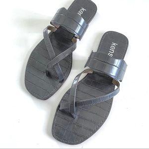 Kensie Novah Slide Sandal Gray